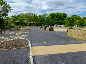 Car park improvements, Coppet Hall
